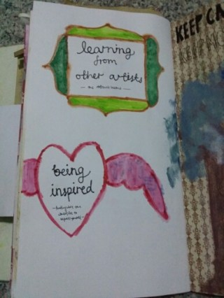 Ponderings: Spontaneity and Serendipity (Watercolour pencils dipped in water)