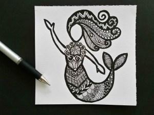 easy drawing zentangles activity patterns simple mermaid outline kid ever mycraftilyeverafter sytyc zentangled