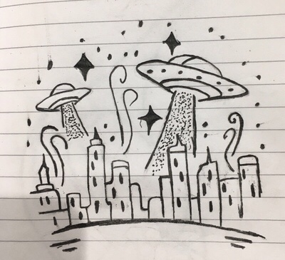 UFO in town