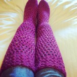 Bright Pink Chunky Socks | MyCraftyMusings