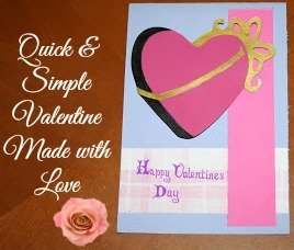 Quick Simple Valentine's Day Card