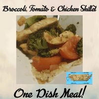 Broccoli, Tomato & Chicken Skillet: Super Easy Healthy Dinner!