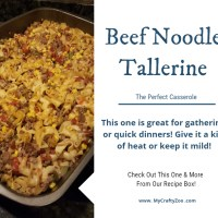 Beef Noodle Tallerine - An Okie #Recipe!