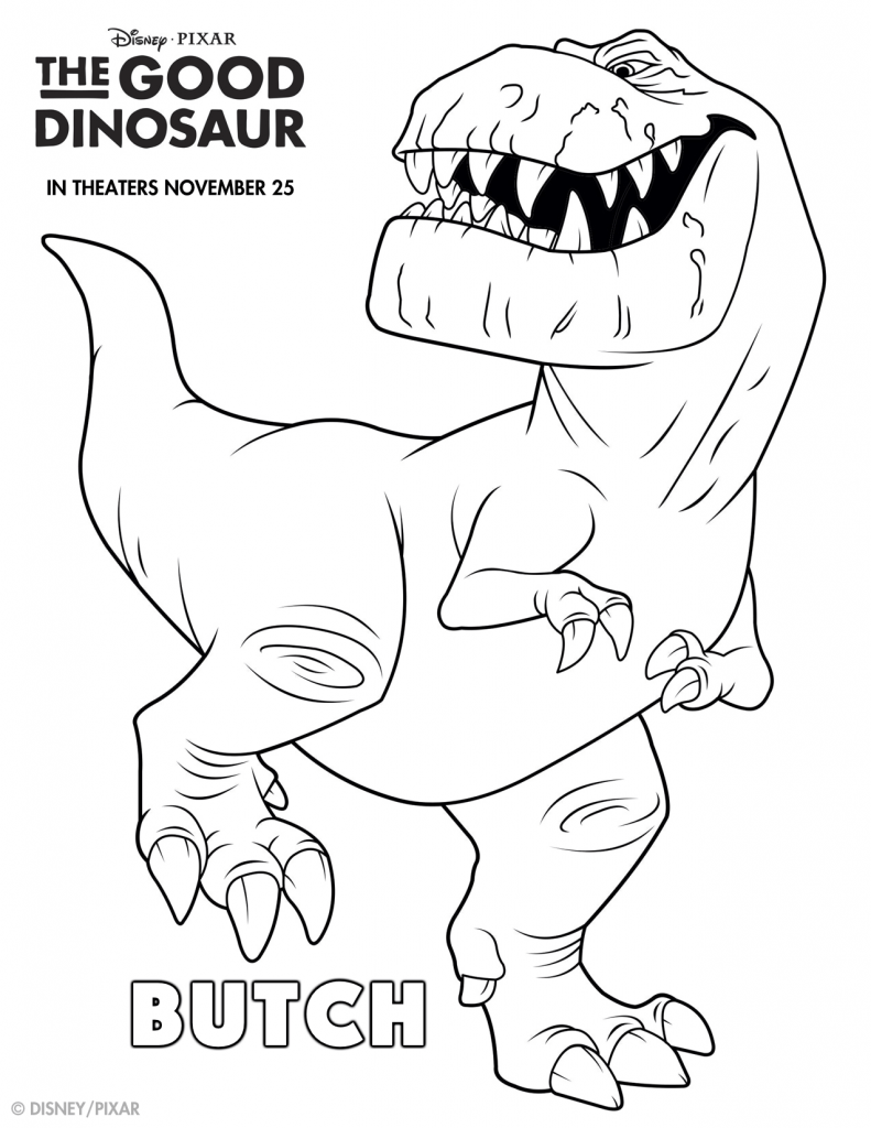 The Good Dinosaur Coloring Pages #GoodDino