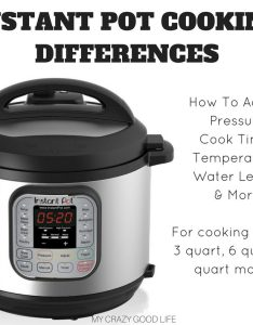 Instant pot cooking differences how to adjust for size my crazy good life also rh mycrazygoodlife