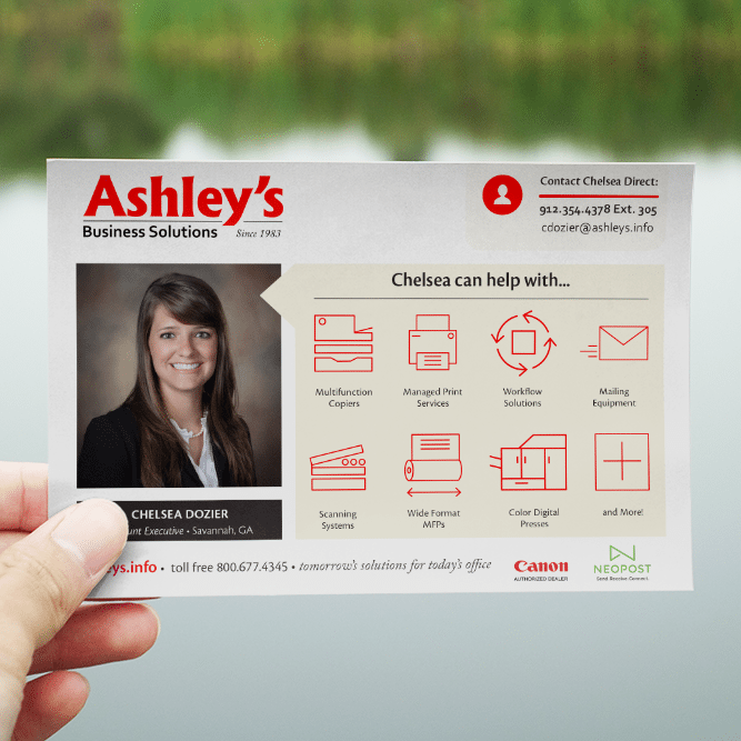 Custom Postcards | Ashley Business Solutions