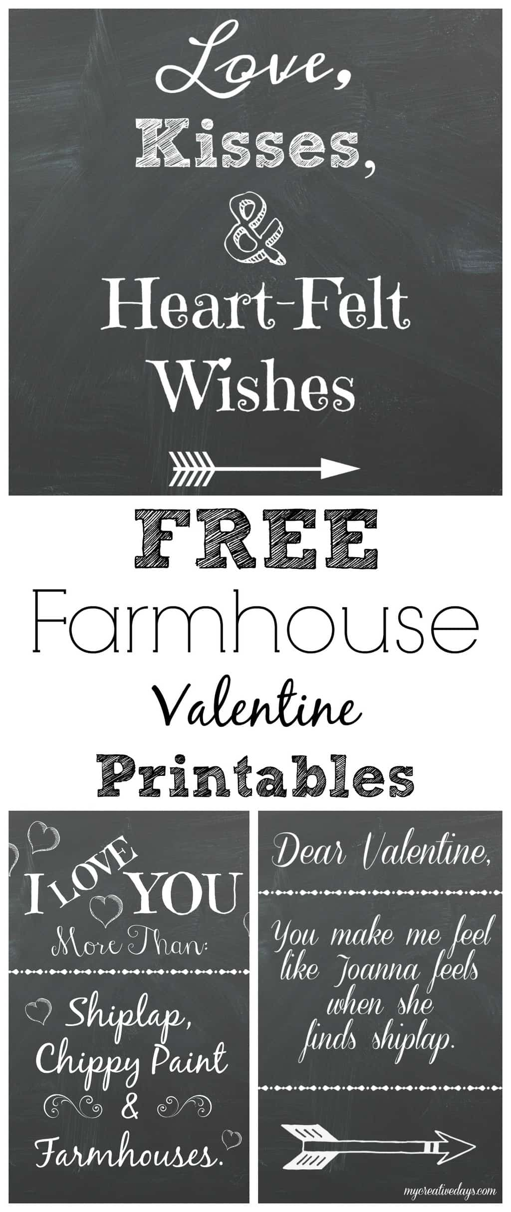 Valentine Printables With A Farmhouse Vibe My Creative Days