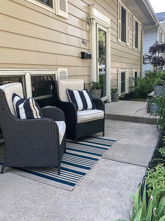 easiest way to clean a concrete patio