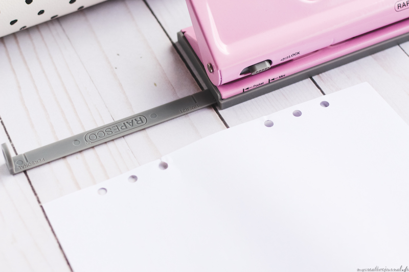 perforatrice pour agenda 6 trous rapesco format A5