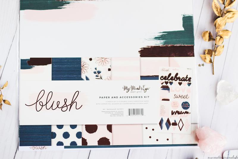 papier cuivre my mind's eye blush unboxing