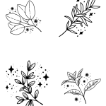 flowers design for mini thermal pocket printers