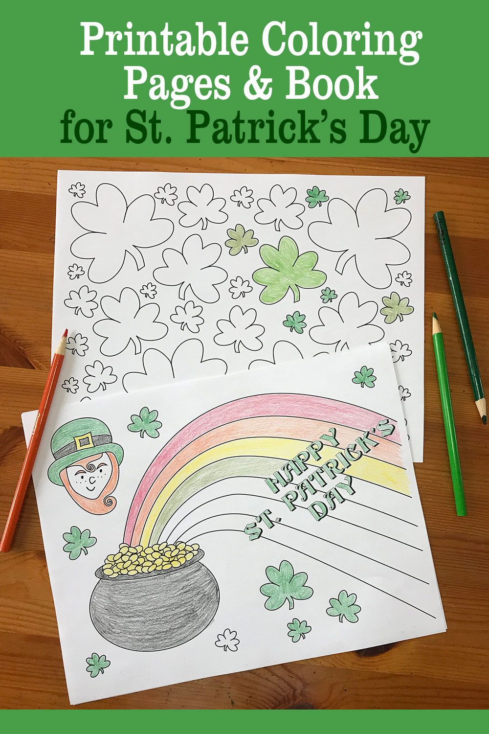 st patrick s day pot of gold coloring pages