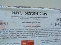 Anti-design banner at Technopolis