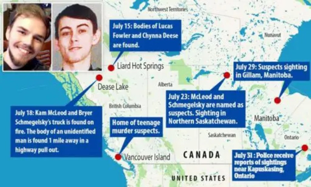 Kam McLeod and Bryer Schmegelsky Kam McLeod and Bryer Schmegelsky Teen Killers
