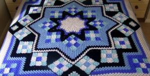 Blue Star Afghan Free Pattern – Beautiful for 2020! (3)