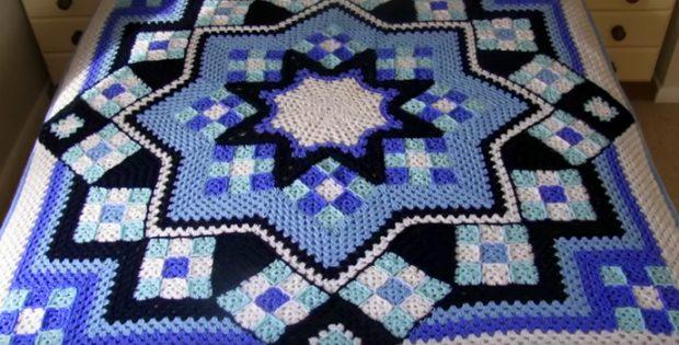 Blue Star Afghan Free Pattern - Beautiful for 2020!