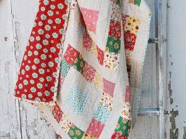 Simple Sixteen Free Quilt Pattern & Log Cabin Quilt Block