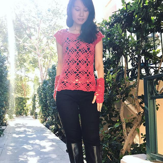 Autumn Lace Top & Mittens Free Patterns