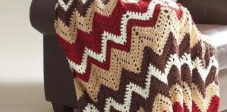 Crochet Cabin in the Woods Vintage Afghan Pattern