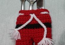 Santa Claus cutlery pants Free Patterns