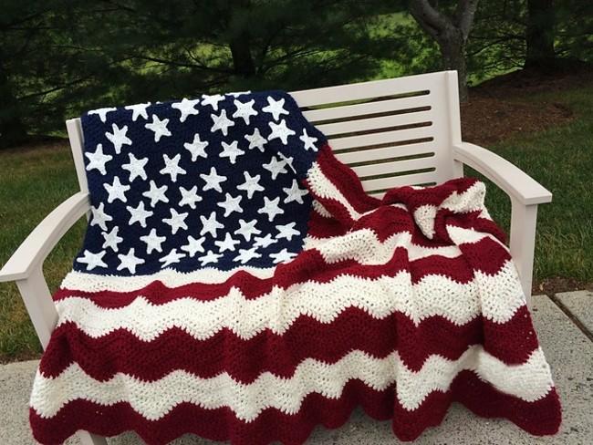American wavy flag crocheting