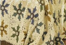 Patons Elegant Floral Afghan