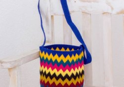 A Simple Guide on How to Crochet Zig Zag Multi Color Hand Crocheted Zig Zag Patterned Bucket Bag Lively