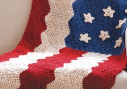 Afghan Crochet Patterns  Heartland Flag Afghan Joann