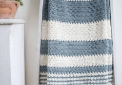 Afghans Crochet Patterns Free Simple And Easy Striped Ba Blanket Crochet Pattern Crochet Life