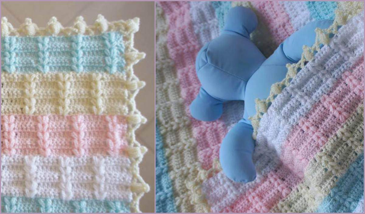 Basic & Standard Patterns for Boy Blanket Crochet Awesome Nicole Ba Blanket Free Pattern And Tutorial Free Crochet