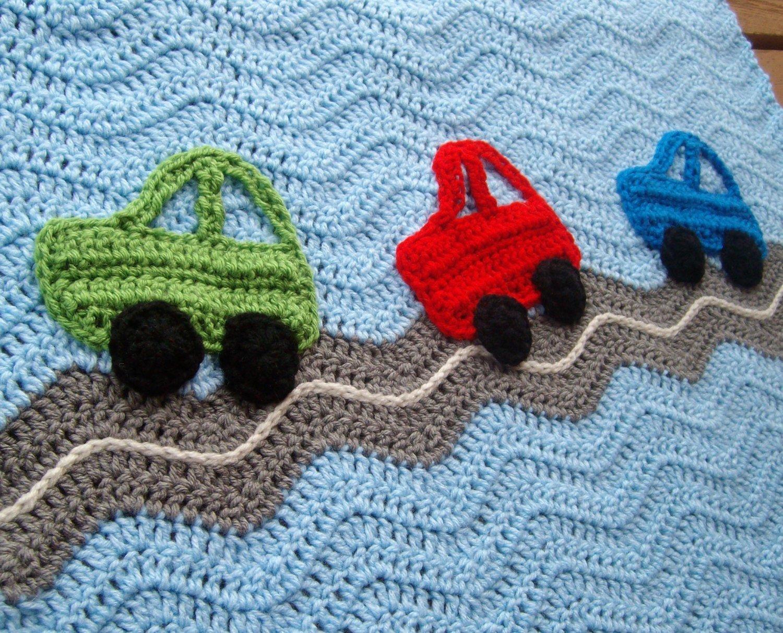 Basic & Standard Patterns for Boy Blanket Crochet Car Ba Boy Blanket Crochet Prairie Heartstrings Blue Litlestuff