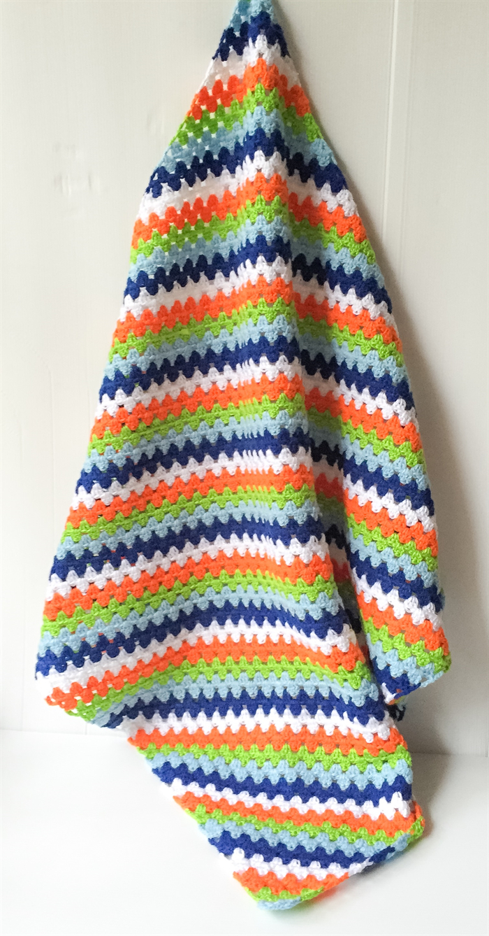 Basic & Standard Patterns for Boy Blanket Crochet Crochet Bright Ba Boys Blanket In Autumn Colors Cuts With Kylie