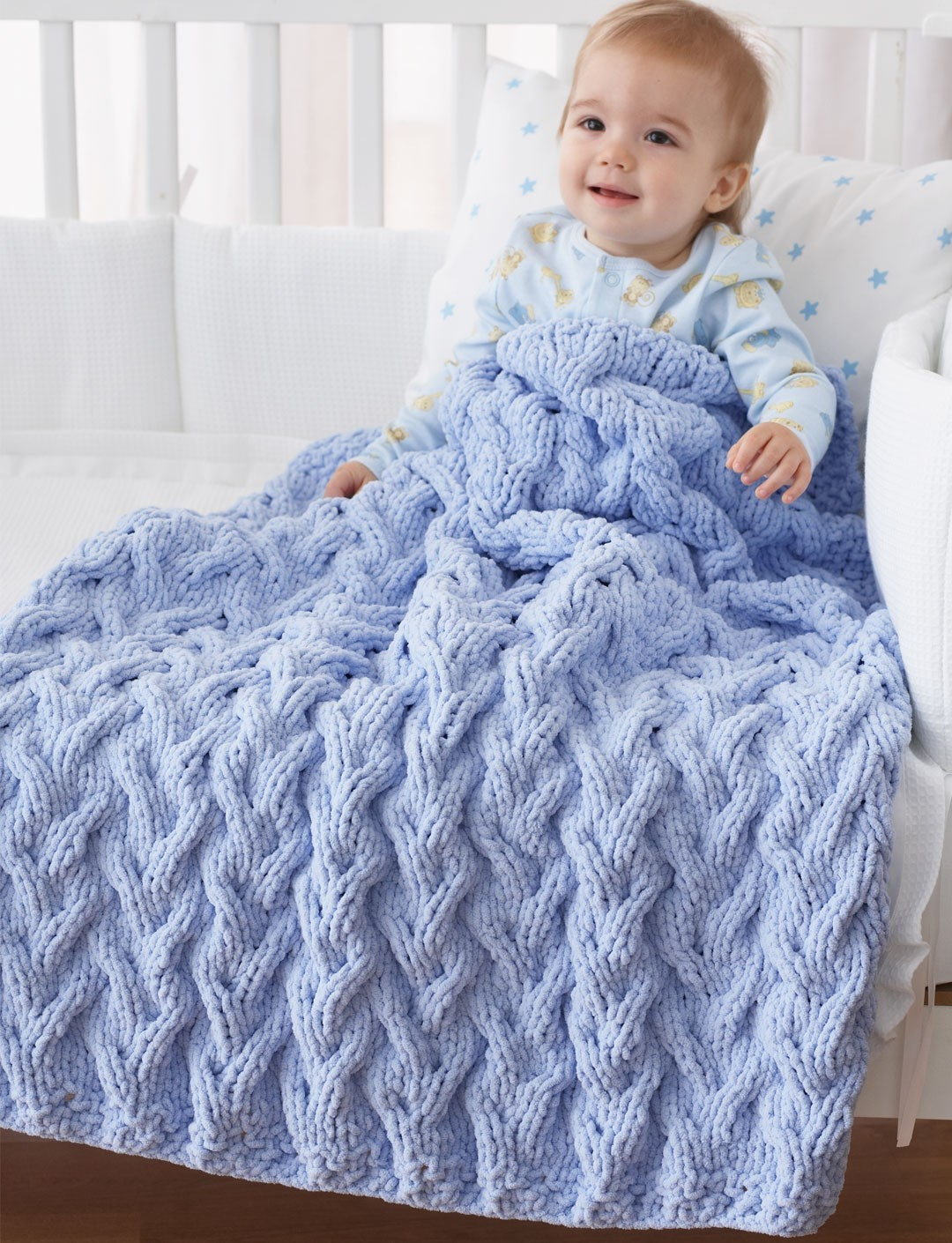 Best Products to Make with the Chunky Yarn Crochet Pattern Ba Blanket Knitting Patterns Bulky Yarn