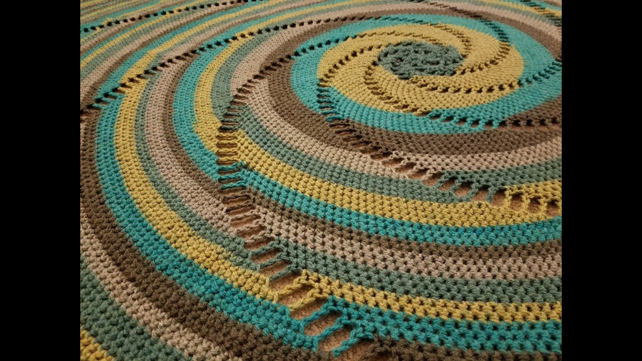 Blanket Crochet Pattern Free to Get You Warmer at Night The Nautilus Blanket Crochet Tutorial Youtube