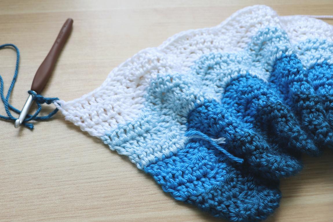 Blanket Crochet Pattern Simple Chevron Ba Blanket Crochet Pattern