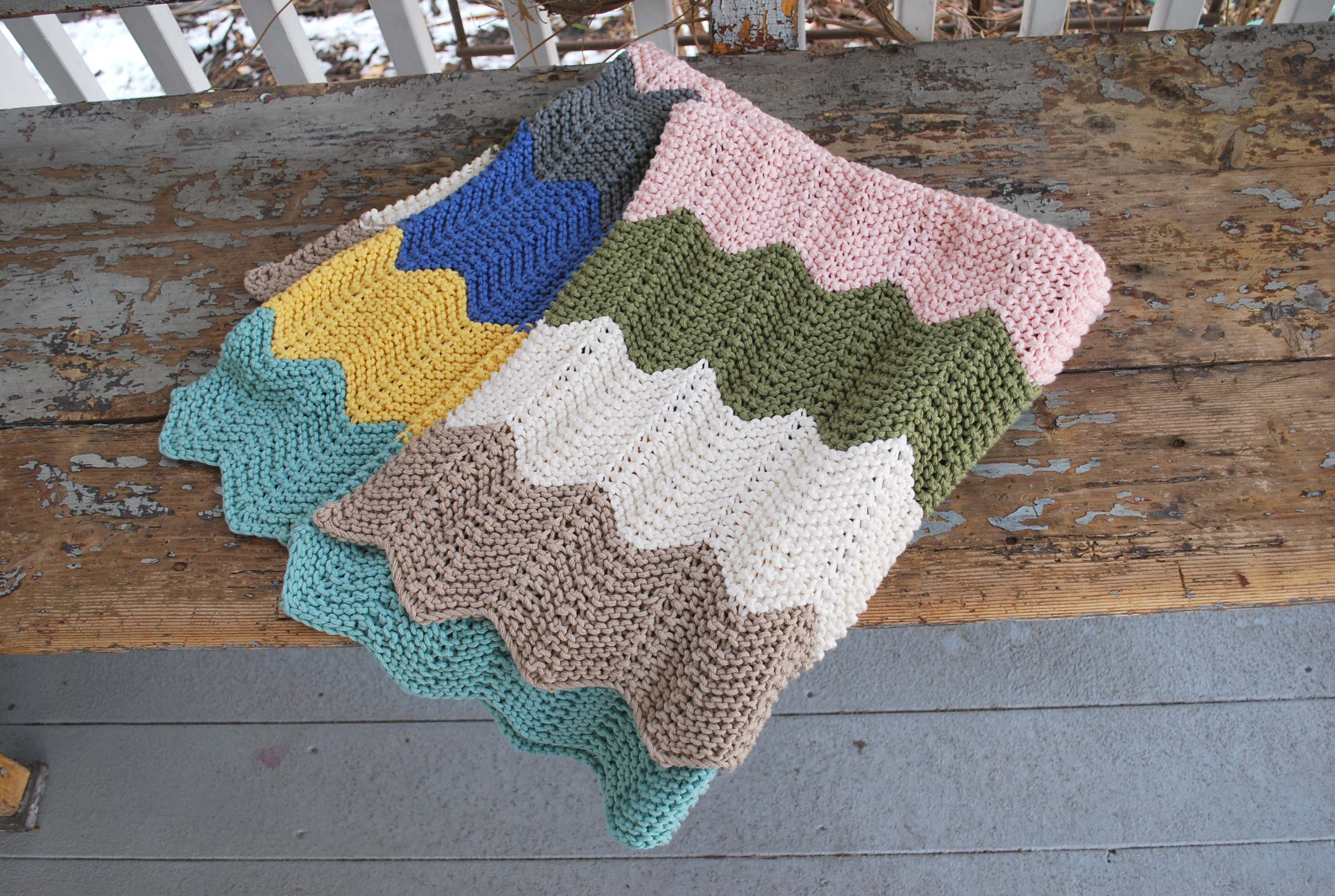 Chevron Knitting Pattern Chevron Ba Blanket The Pipers Girls
