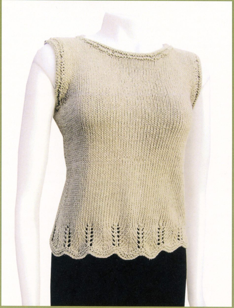 Chevron Knitting Pattern Chevron Trim Top Knitting Pattern Halcyon Yarn