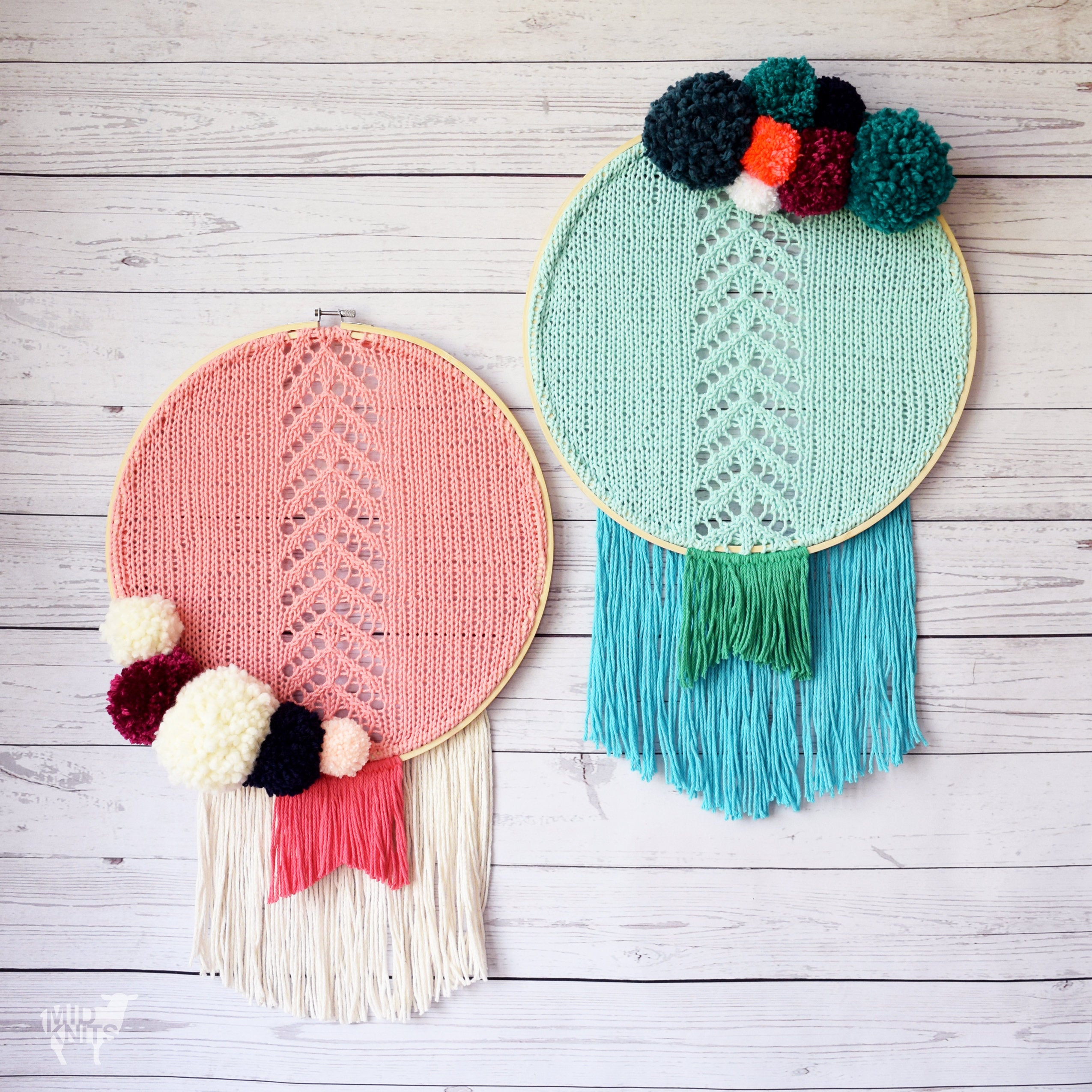Chevron Knitting Pattern Diy Knitting Pattern Chevron Fringe Dreamcatcher Inspired Etsy