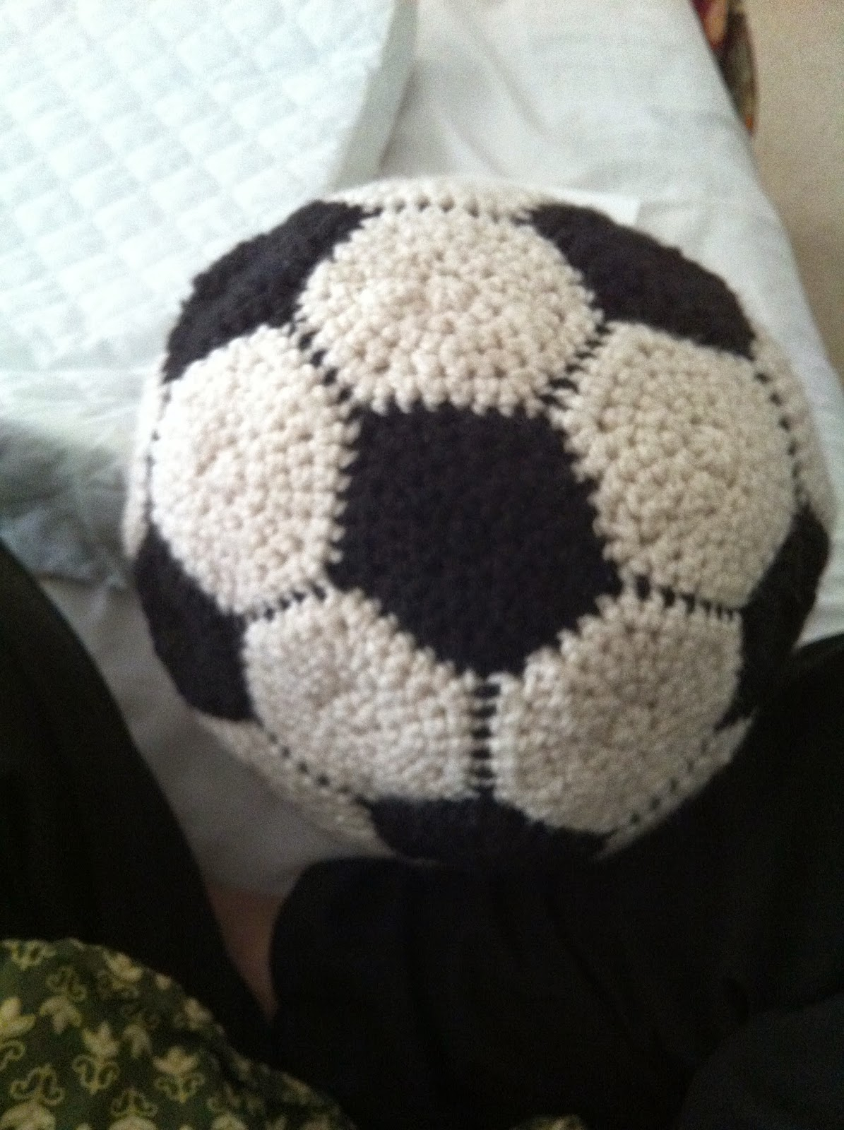 Crochet Ball Pattern A Hook In Time Easy Crochet Soccer Ball Free