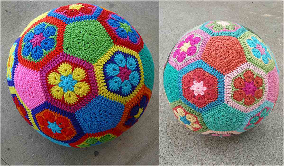 Crochet Ball Pattern African Flower Soccer Ball Free Crochet Pattern Your Crochet