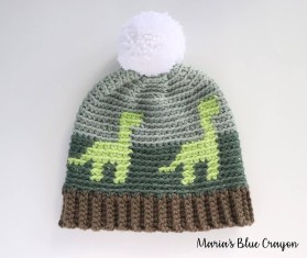 Crochet Beanie Pattern Crochet Dinosaur Hat For Kids Free Crochet Pattern Marias Blue