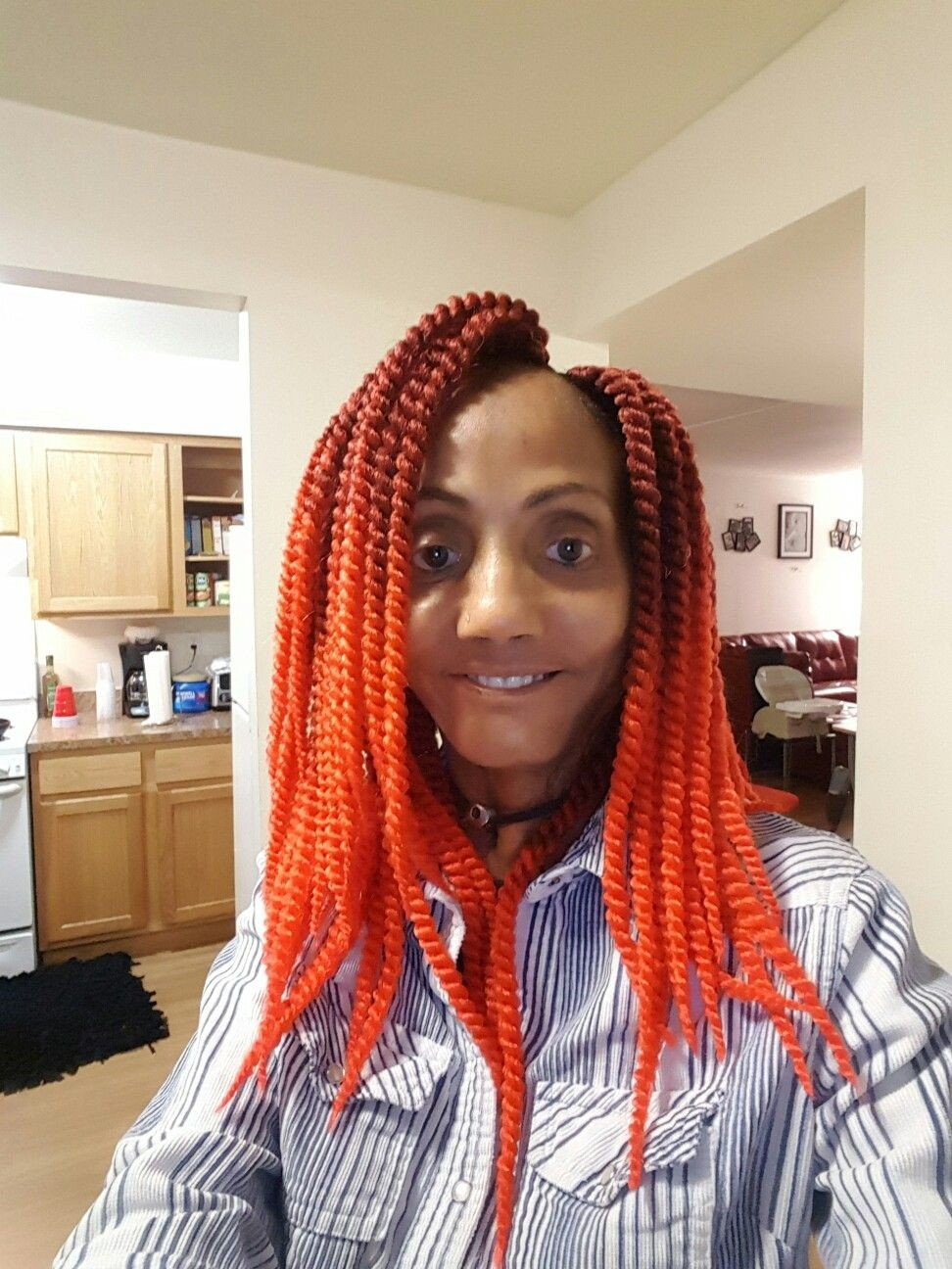 Crochet Braid Pattern to Make Various Projects Crochet Braid Pattern For Updo Hairstyles With Beautiful Bright Red