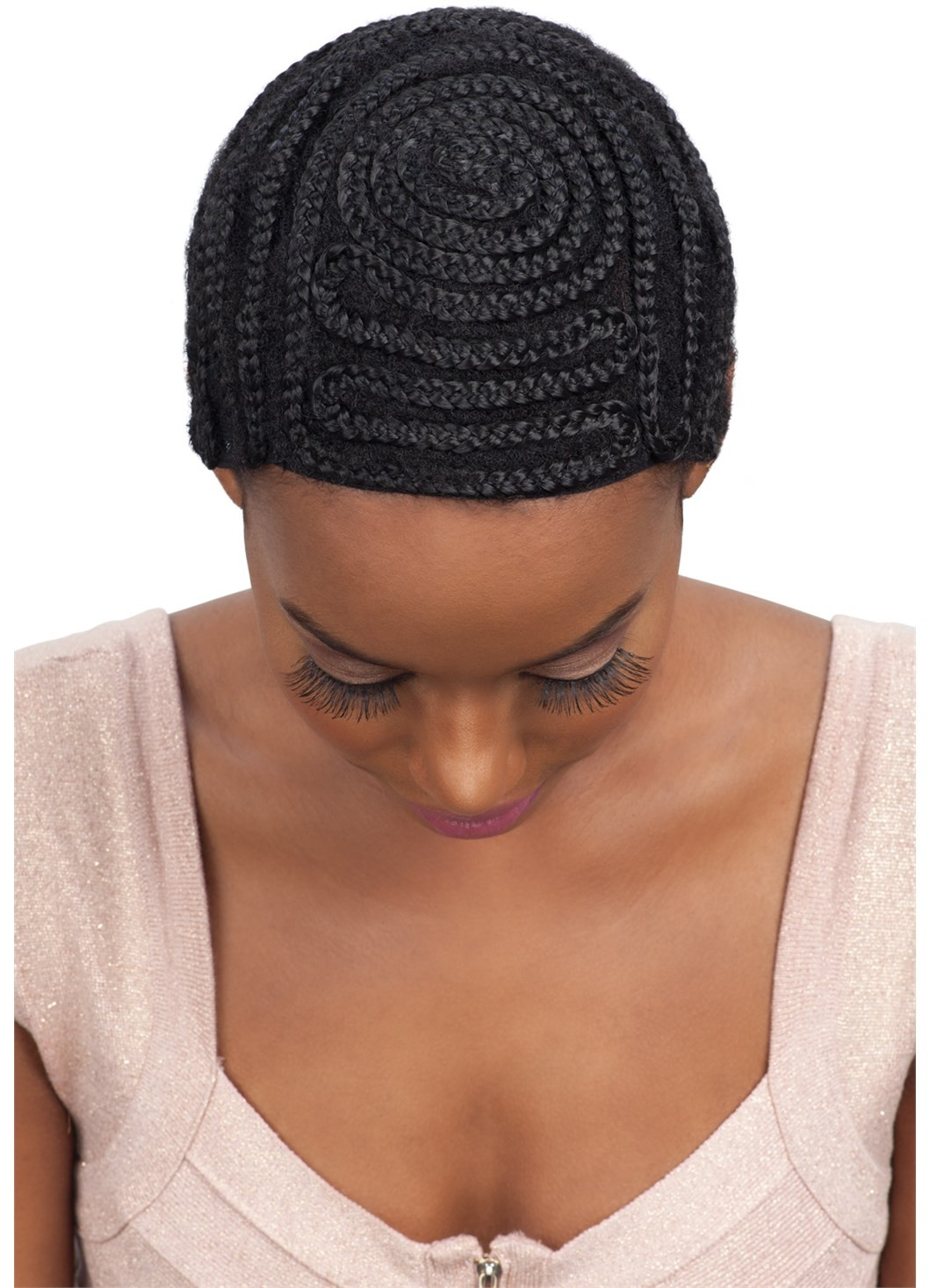 Crochet Braid Pattern to Make Various Projects Model Model Protectif Style Braided Cap Full Bang Pattern For