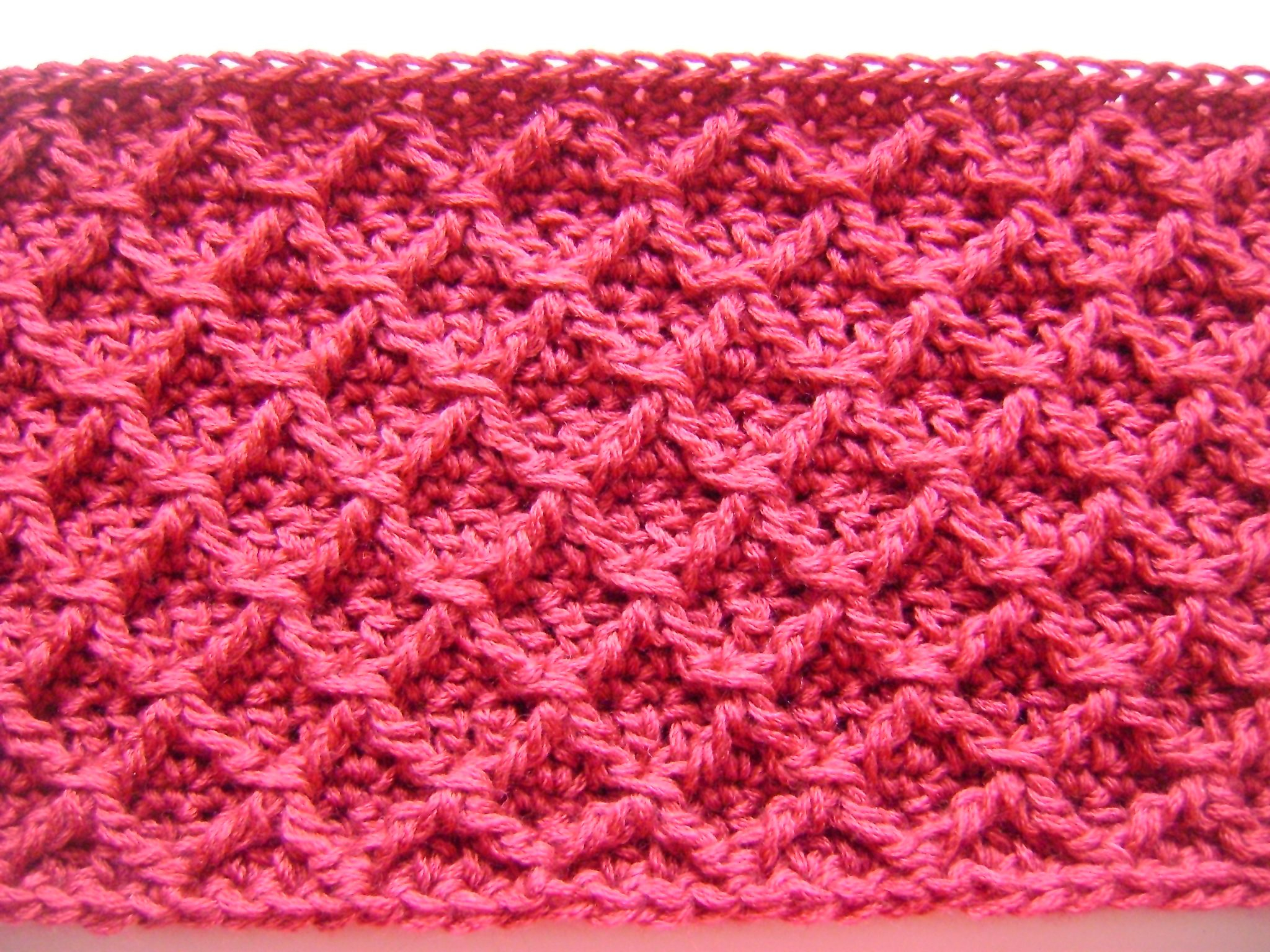 Crochet Diamond Pattern  Free Pattern Diamond Crochet Cowl