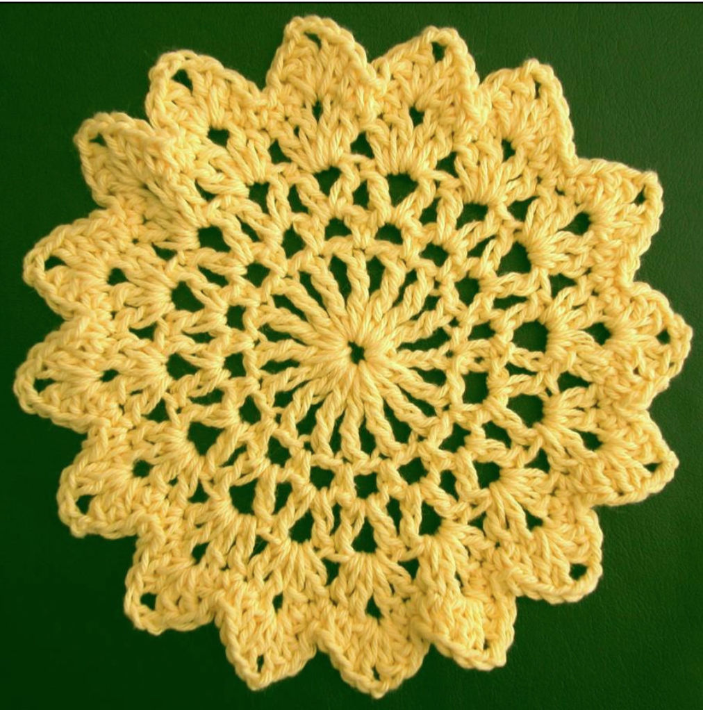 Crochet Dishcloths Free Patterns  Free Crochet Dishcloth Pattern Sunflower The Crochet Dude