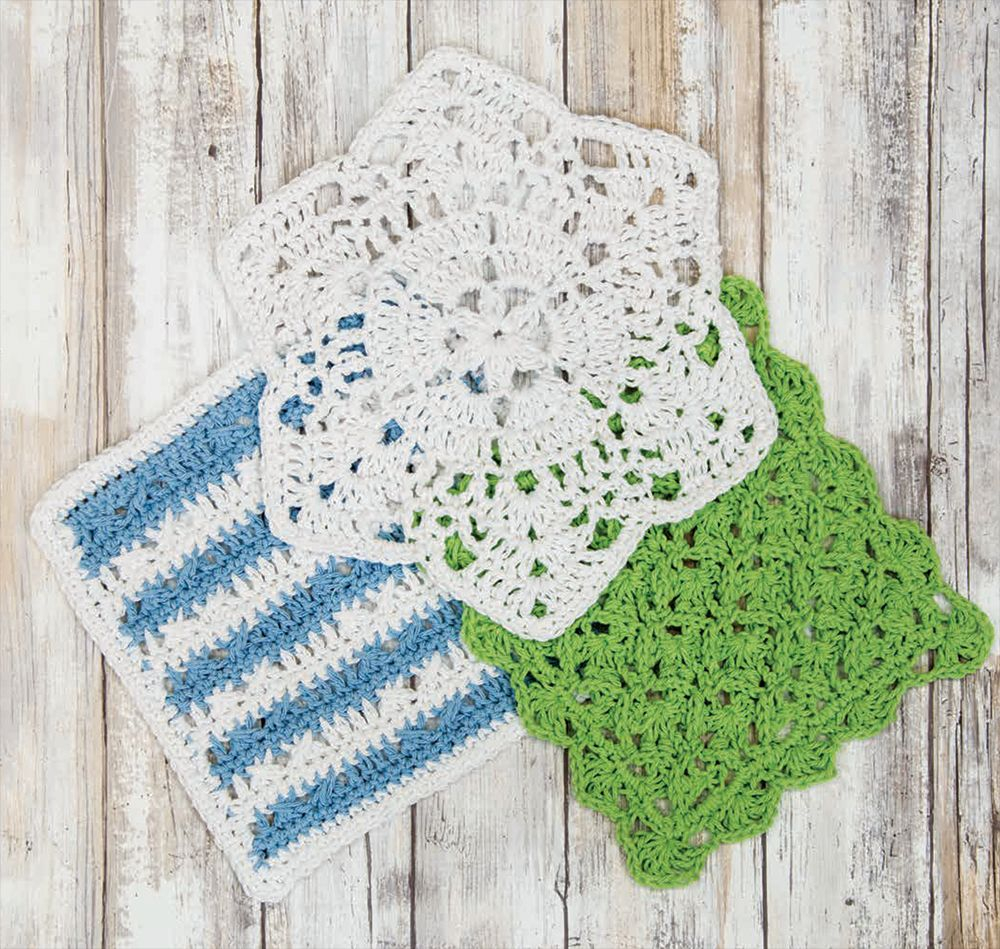 Crochet Dishcloths Free Patterns  Mary Maxim Free Crochet Dishcloth Pattern