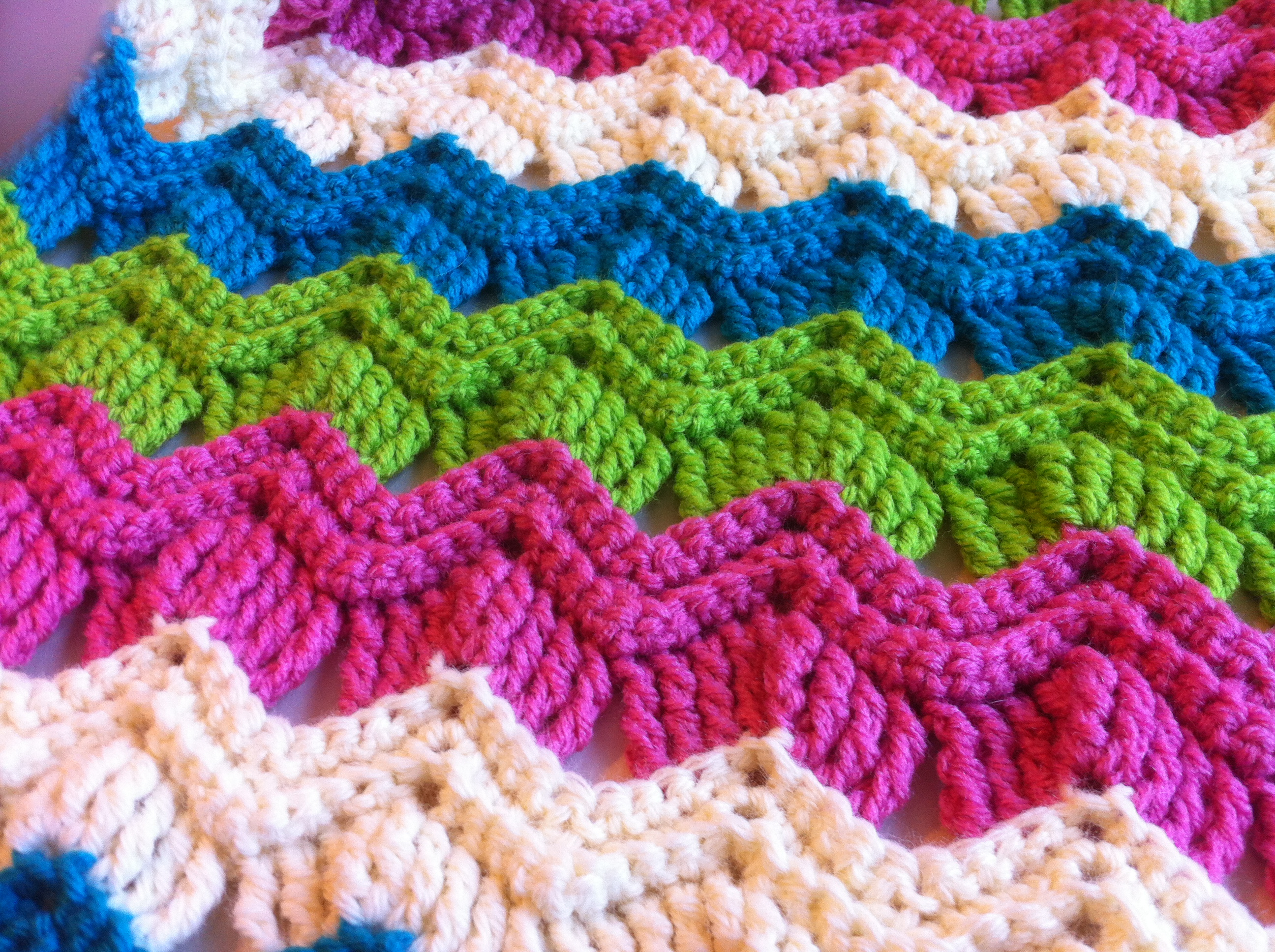 Crochet Stitch Pattern  Free Crochet Pattern Vintage Ripple Fan Scarf