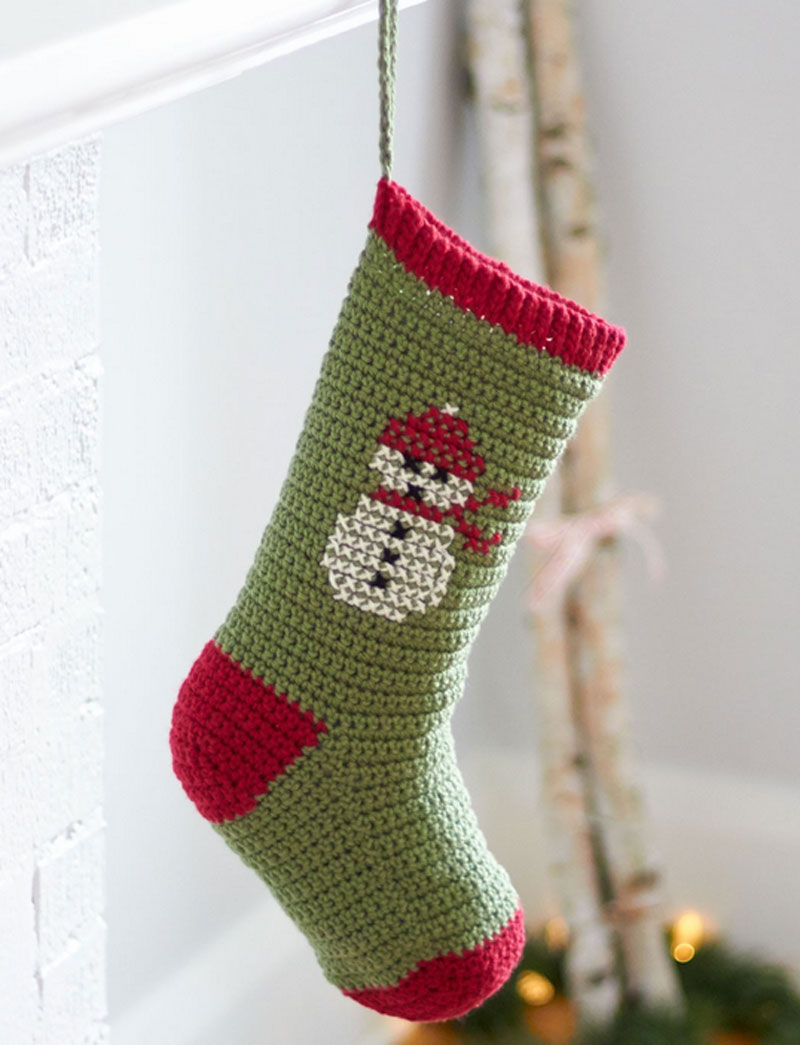Crochet Stocking Pattern  20 Free Crochet Christmas Stocking Patterns Guide Patterns