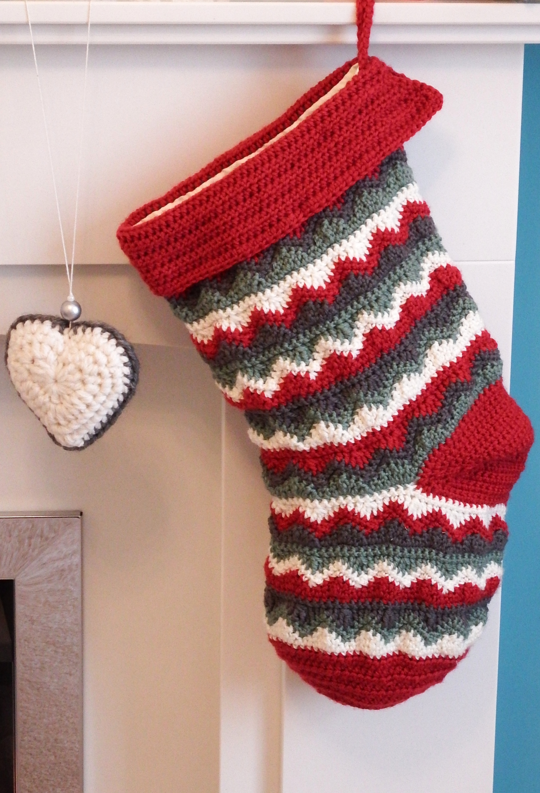 Crochet Stocking Pattern  Christmas Stocking Make My Day Creative