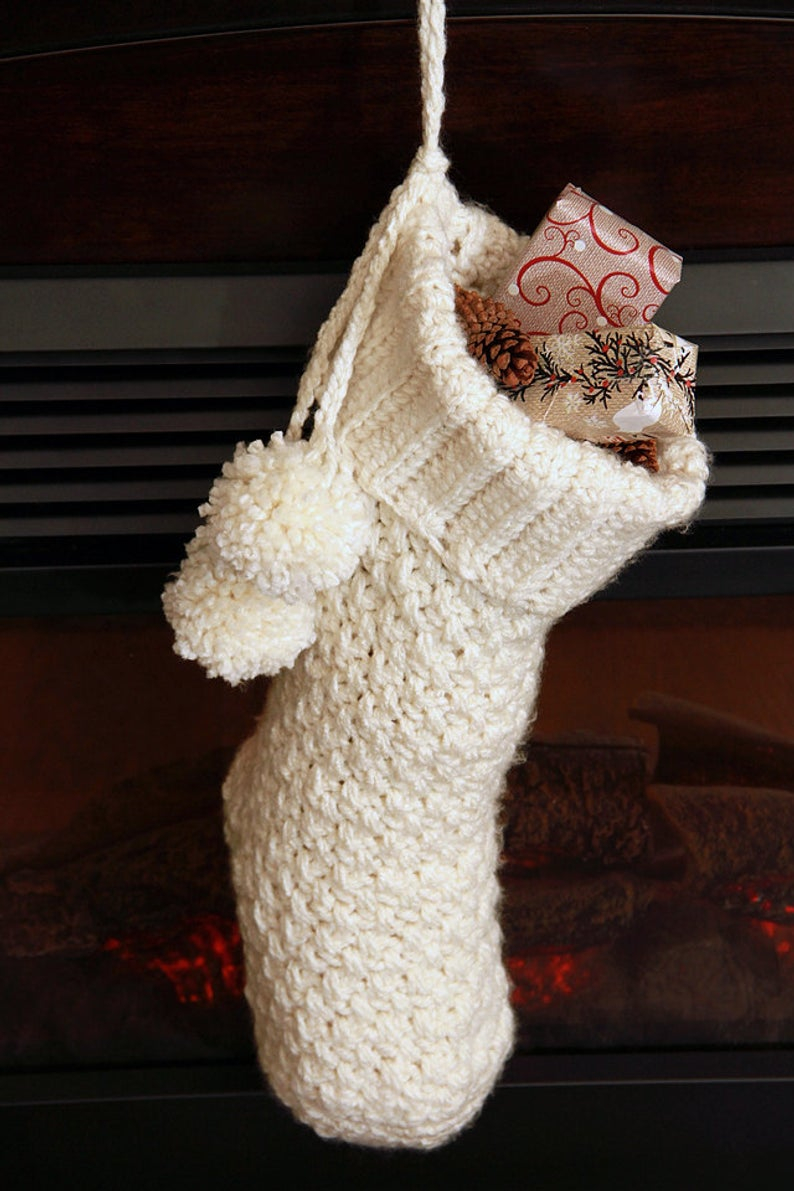 Crochet Stocking Pattern  Crochet Christmas Stocking Pattern Christmas Stocking With Etsy